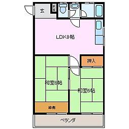 吉村ビル[3階]の間取り