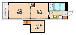 メゾンドアヴリル[1階]の間取り
