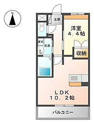 レジデンスK・H[3階]の間取り