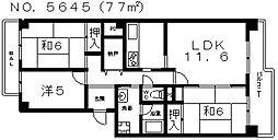 あべのマルシェ東館[4階]の間取り