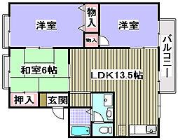 セジュール寺田[105号室]の間取り