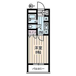 ヴィレッジ・イン・富士見丘[0302号室]の間取り