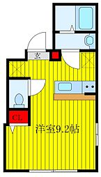 Grand Residence OJI 4階ワンルームの間取り