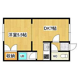 西富5号マンション[105号室]の間取り