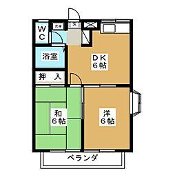 ピュアハーツ93[2階]の間取り