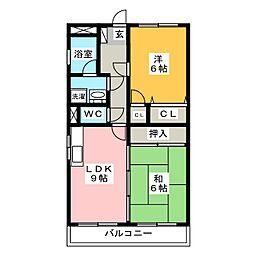 エクシード児嶋[7階]の間取り