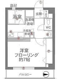 弘明寺ビューハイツ[1階]の間取り
