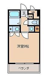 桜マンションII[4階]の間取り