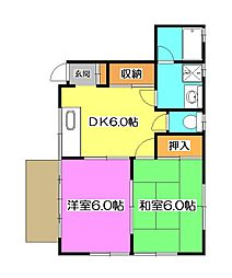 糸伝ホーム[1階]の間取り