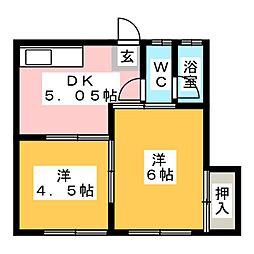 加登屋荘第三[2階]の間取り