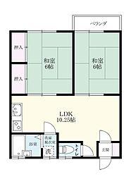 土井丸ホーム[103号室]の間取り