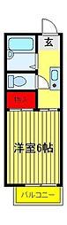 竹林ナカノ A[201号室]の間取り