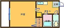 和歌山県御坊市湯川町財部の賃貸マンションの間取り