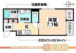 愛知県名古屋市南区桜台2丁目の賃貸マンションの間取り