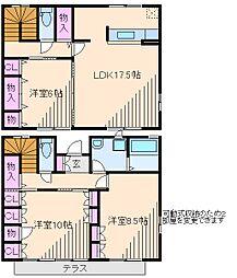 神奈川県横浜市都筑区荏田東4丁目の賃貸アパートの間取り