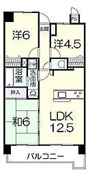 オーセンティック西京II[2階]の間取り