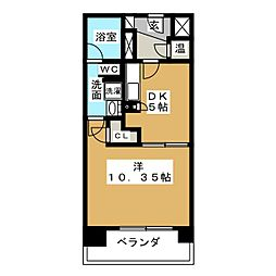 KDXレジデンス東桜II[2階]の間取り