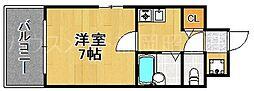 福岡県福岡市中央区六本松2丁目の賃貸マンションの間取り