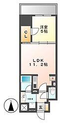ダイワシティー大須[6階]の間取り