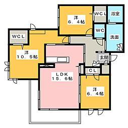 エクラージュ阿倉川[3階]の間取り