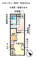 レオパレスKANI[1階]の間取り