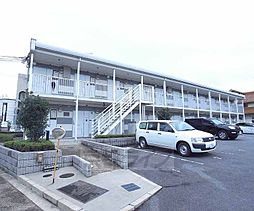 京都府八幡市八幡五反田の賃貸アパートの外観
