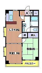 カーサ大樹[2階]の間取り