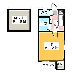 エムケート桜山[1階]の間取り
