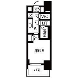 名古屋市営桜通線 今池駅 徒歩2分の賃貸マンション 8階1Kの間取り