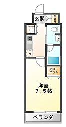 Groove Mukogawa 6階1Kの間取り