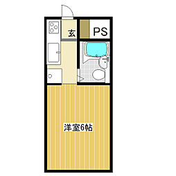 茨城県土浦市摩利山新田の賃貸アパートの間取り
