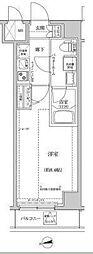東京メトロ半蔵門線 住吉駅 徒歩15分の賃貸マンション 2階1Kの間取り