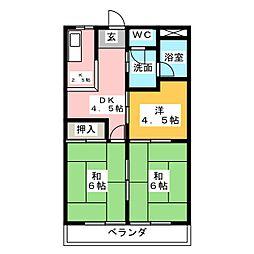 稲佐ハイツ[3階]の間取り