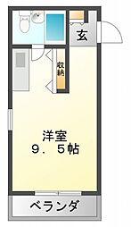 ファインクレスト江坂[4階]の間取り