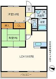 第2エステートシライシ 307[3階]の間取り