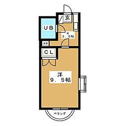 RIVAGE UEDA[2階]の間取り