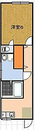 サンピアハイツVI[1階]の間取り