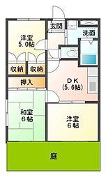 静岡県三島市平田の賃貸マンションの間取り