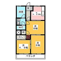 エル浅井[2階]の間取り