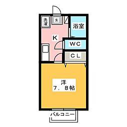 メゾン中部 B棟[1階]の間取り