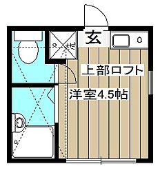 マーベラス国分寺東恋ヶ窪II[101号室]の間取り