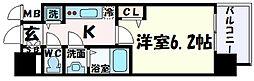 ララプレイス神戸西元町 9階1Kの間取り