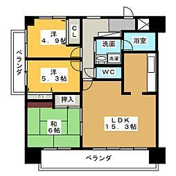 ヴィアレ志賀 201号室[2階]の間取り