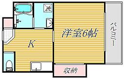 エトワールハイム[3階]の間取り