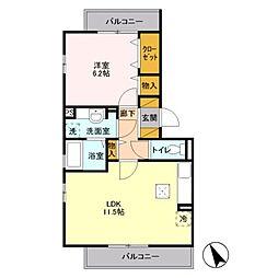JR京浜東北・根岸線 本郷台駅 徒歩12分の賃貸アパート 3階1LDKの間取り