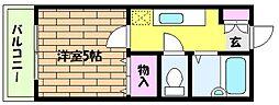 兵庫県神戸市東灘区魚崎南町7丁目の賃貸マンションの間取り