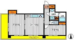 東京都立川市柴崎町2丁目の賃貸マンションの間取り