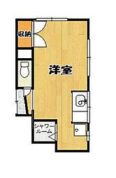 東京都豊島区西池袋2丁目の賃貸アパートの間取り