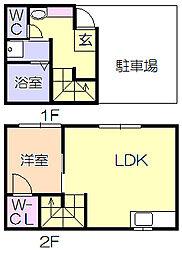 GARAGE HOUSE La Dice[B号室]の間取り