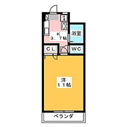 メゾン清里[5階]の間取り